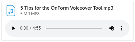 5 Tips for OnForm Voiceover Tool